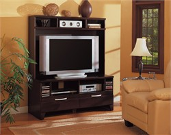 Cappuccino Entertainment Center - Coaster 700092