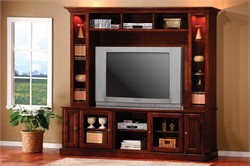 Casual Merlot Oak Entertainment Center - Coaster 700231/32