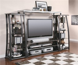 Contemporary Black/Silver Entertainment Center COASTER 700681/82/82/83