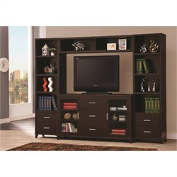 Contemporary Cappuccino TV Console - Coaster 700881