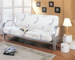 Contemporary Silver Futon Frame - Coaster 7251