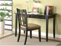 2 Piece Black Desk Set - Coaster 800779