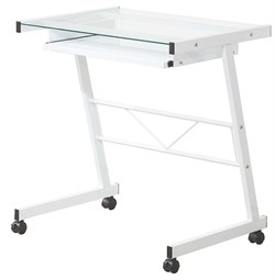 White Mobile Computer Desk - Coaster 800817
