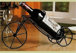 Black Single Bottle Bicycle Wine Holder (Set of 6) - Coaster 900033