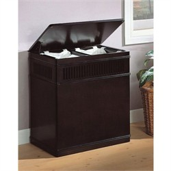 Cappuccino Finish Wood Laundry Hamper - Coaster 900159