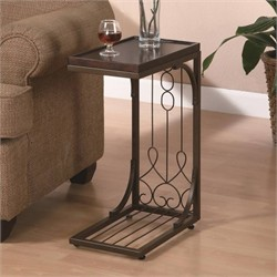 Traditional Brown Accent Snack Table - Coaster 900280