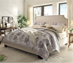 Kingston California King Bed with Nail Head Accent - Diamond Sofa - Desert Sand Linen KINGSTONSDCKBED (Shipping Included)