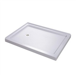 "DreamLine SlimLine 34"" by 48"" Double Threshold Shower Base Left Hand Drain - Dreamline DLT-1034481"