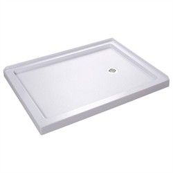 "DreamLine SlimLine 34"" by 48"" Double Threshold Shower Base Right Hand Drain - Dreamline DLT-1034482"