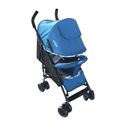 Travis Lightweight Blue Stroller with 3 Positions - eBaby-214BL