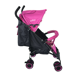 Travis Lightweight Pink Stroller with 3 Positions - eBaby-214PI
