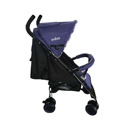Travis Lightweight Purple Stroller with 3 Positions - eBaby-214PU
