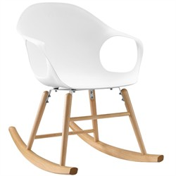 Swerve Rocking Chair in White - East End Imports EEI-1456-WHI