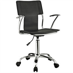 Studio Office Chair in Black Vinyl -  EEI-198-BLK