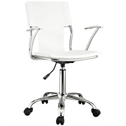 Studio Office Chair in White Vinyl -  EEI-198-WHI