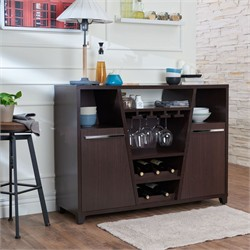 Furniture of America Towle Modern Multi-Storage Dining Buffet in Espresso - Enitial Lab FGI-15701C5