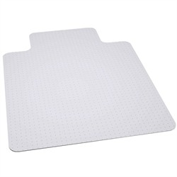 45'' x 53'' Big & Tall 400 lb. Capacity Carpet Chair Mat w/ Lip - Flash Furniture MAT-124164-GG