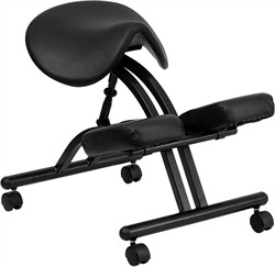 Ergonomic Kneeling Chair w/ Black Saddle Seat - Flash Furniture WL-1421-GG