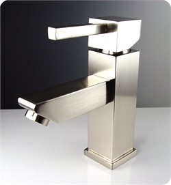 Fresca-FFT1030BN Versa Single Hole Mount Bathroom Vanity Faucet - Brushed Nickel  (Shipping Included)