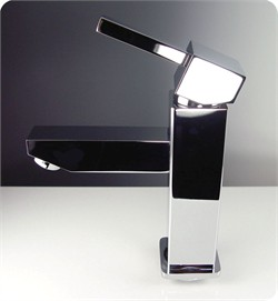 Fresca-FFT1030CH Bevera Single Hole Mount Bathroom Vanity Faucet - Chrome  (Shipping Included)