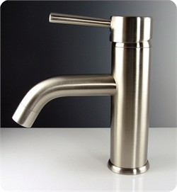 Fresca-FFT1041BN Sillaro Single Hole Mount Bathroom Vanity Faucet - Brushed Nickel (Shipping Included)