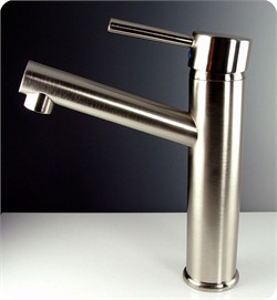Fresca-FFT1046BN Savio Single Hole Mount Bathroom Vanity Faucet - Brushed Nickel (Shipping Included)