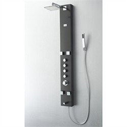 Fresca-FSP8001BG Pavia Stainless Steel (Brushed Gray) Thermostatic Shower Massage Panel  (Shipping Included)
