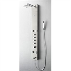 Fresca-FSP8001BS Pavia Stainless Steel (Brushed Silver) Thermostatic Shower Massage Panel  (Shipping Included)