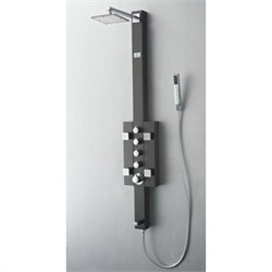 Fresca-FSP8002BG Lecco Stainless Steel (Brushed Gray) Thermostatic Shower Massage Panel (Shipping Included)