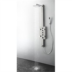 Fresca-FSP8002BS Lecco Stainless Steel (Brushed Silver) Thermostatic Shower Massage Panel (Shipping Included)