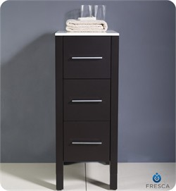 "Fresca-FST6212ES Torino 12"" Espresso Bathroom Linen Side Cabinet (Shipping Included)"