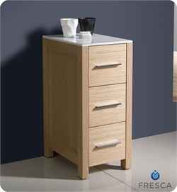"Fresca-FST6212LO Torino 12"" Light Oak Bathroom Linen Side Cabinet (Shipping Included)"