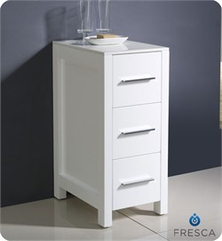 "Fresca-FST6212WH Torino 12"" White Bathroom Linen Side Cabinet (Shipping Included)"