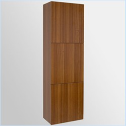 Fresca-FST8090TK Teak Bathroom Linen Side Cabinet w/ 3 Large Storage Areas  (Shipping Included)