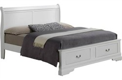 Hamlet Queen Storage Bed in White - Glory Furniture G3190D-QSB2
