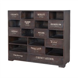 Farmhouse Wine Chest - Guild Master 605016HGS (Shipping Included)