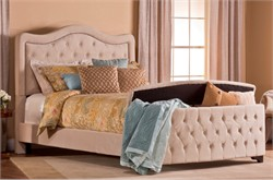 Buckwheat Trieste Bed Set with Storage Footboard & Rails - Hillsdale Furniture 1566BCKRTS