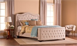 Trieste King Bed Set w/ Storage Footboard (Rails included) - Hillsdale Furniture 1566BKRTS