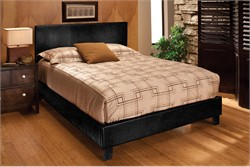 Harbortown Queen Bed Set in Black Vinyl - Hillsdale Furniture 1610BQR (Shipping Included)