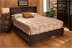 Harbortown King Bed Set in Brown Vinyl - Hillsdale Furniture 1611BKR (Shipping Included)
