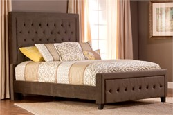 Kaylie King Bed Set / Cal King w/ Rails - Pewter Finish - Hillsdale Furniture 1638BCKRK (Shipping Included)