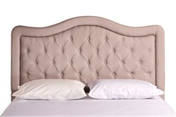 Trieste Dove Gray Linen Fabric King / Cal King Headboard - Rails Not Included - Hillsdale Furniture 1801-672 (Shipping Included)