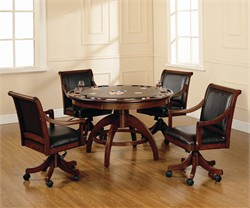 Palm Springs Game Table & Four Chairs - Hillsdale 4185GTBC
