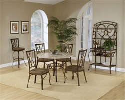 Hillsdale 4815DTRNBCDM - Brookside 5-PC Round Dining Set w/ Diamond Back Chairs (Shipping Included)