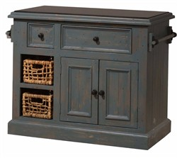 Tuscan Retreat ? Medium Kitchen Island w/ (2) Two Baskets - Hillsdale 5834-1039W (Shipping Included)