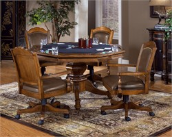 Nassau Leather Back Game Chair - Hillsdale Furniture 6060-801