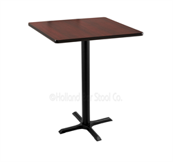 "(Shipping Included) Holland  42"" 211 Black Table /w 30"" x 30"" Square Top 211-2242BW30SQ"