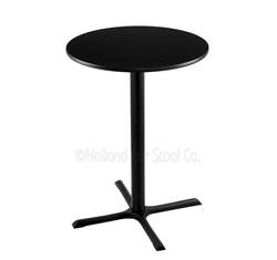"(Shipping Included) Holland  36"" 211 Black Table /w 30"" Diameter Top 211-3036BW30R"