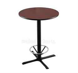 "(Shipping Included) Holland  36"" 211 Black Table /w 30"" Diameter Top & Foot Ring 211-3036BW30RFTRG"
