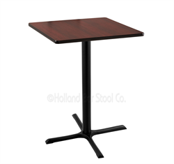 "(Shipping Included) Holland  36"" 211 Black Table /w 30"" x 30"" Square Top 211-3036BW30SQ"